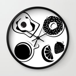 Breakfast Lunch and Dinner Wall Clock