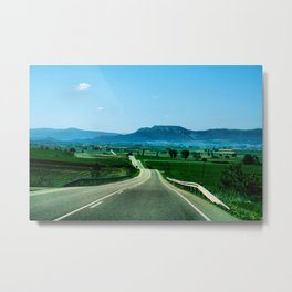 I'm going to marry the road so I can see the whole world. Metal Print