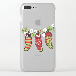 Jingle Meow Clear iPhone Case