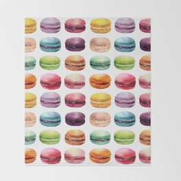 Macaroons Stacked Throw Blanket