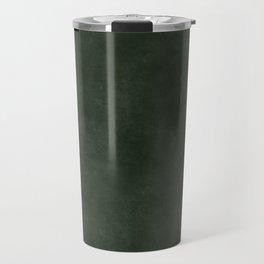 Dark green distressed vintage antique exclusive look solid color Travel Mug