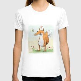 Cute Fox is in love T-shirt