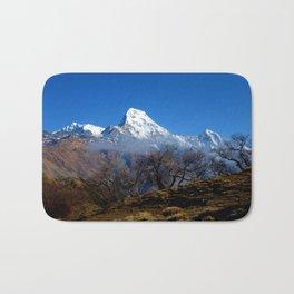 Panoramic View Of Annapurna Ghorepani Poon Hill Bath Mat