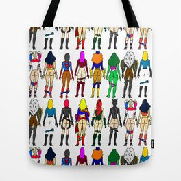 Superheroine Butts Tote Bag