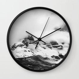 Smokey Mountains Landscape Black & White Wall Clock