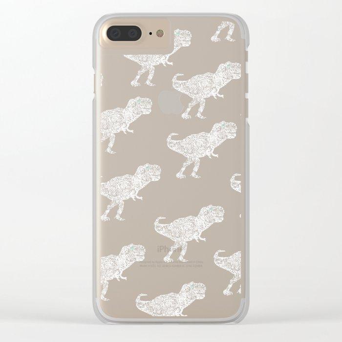 Lace Rex Clear iPhone Case