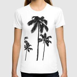 Monochrome tropical palms T-shirt