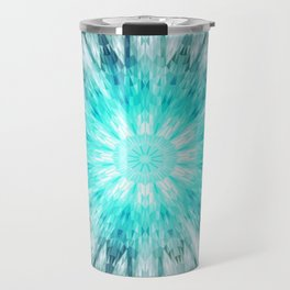Teal Blue Mandala Travel Mug
