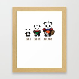 Gamer Panda Dungeon RPG Tabletop funny gift Framed Art Print