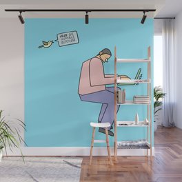 sit down and work Wall Mural