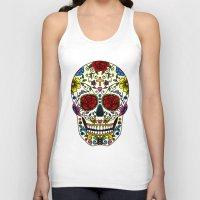 sugar skull Tank Tops featuring Sugar Skull by Jade Boylan