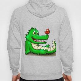 Crocodile and red bird Hoody