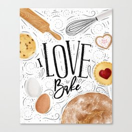 I love bake Canvas Print
