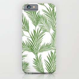 Green Palm Leaves Pattern iPhone Case