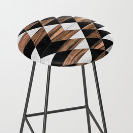 Urban Tribal Pattern No.9 - Aztec - Concrete and Wood Bar Stool
