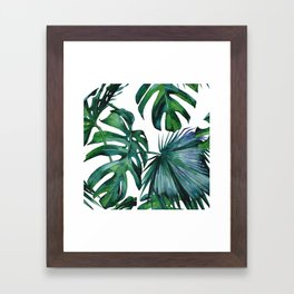 Tropical Palm Leaves Classic Framed Art Print