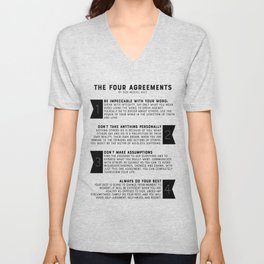 The Four Agreements by don Miguel Ruiz Unisex V-Neck