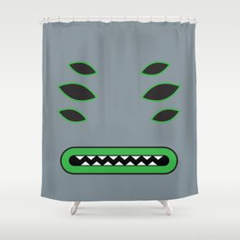 Evil Grey 2 Shower Curtain