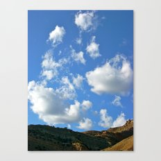 Bookcliff Sky Canvas Print