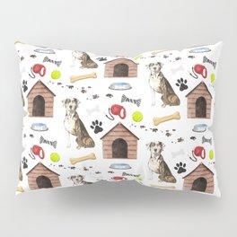 Catahoula Leopard Dog Half Drop Repeat Pattern Pillow Sham