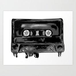 Black Tape Art Print