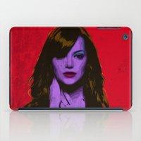 emma stone iPad Cases featuring Emma Stone by Bolin Cradley Art