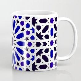 (N8) Epic Original Blue Moroccan Geometric Artwork. Coffee Mug