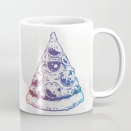 All Seeing Pizza Coffee Mug