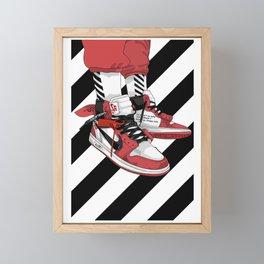 Jordan I Off White Art Framed Mini Art Print