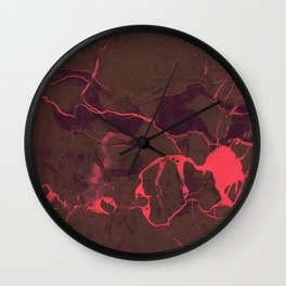 Grey Marble and Coral Wall Clock