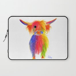 Scottish Highland Cow ' TOTTIE ' by Shirley MacArthur Laptop Sleeve