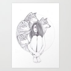 Company Of Wolves Art Print