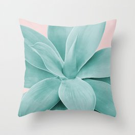 Blush Agave Romance #1 #tropical #decor #art #society6 Throw Pillow