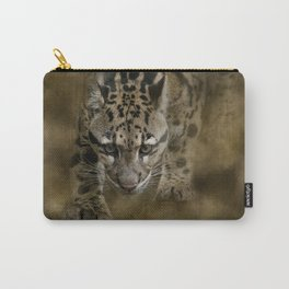Clouded Leopard On The Hunt Carry-All Pouch