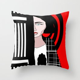 The Stalker Throw Pillow