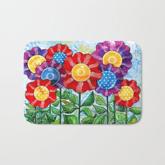 Happiest Flowers Bath Mat