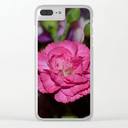 Pink carnation Clear iPhone Case