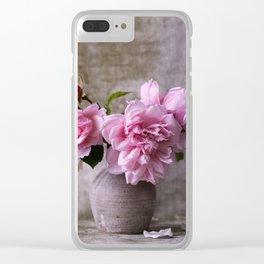 Floral Garden Rose Bouquet Clear iPhone Case
