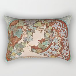 Alphonse Mucha - Ivy Rectangular Pillow