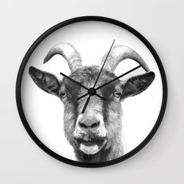 Black and White Goat Wall Clock
