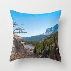 Windswept tree Throw Pillow