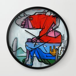 Contemplating Collective Consciousness by Amos Duggan 2013 Wall Clock