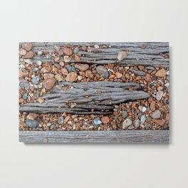 Wood And Pebbles Metal Print