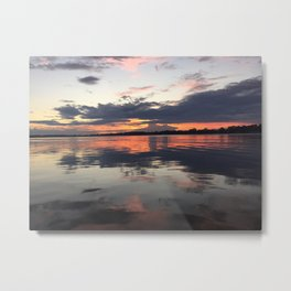Michigan Sunset Metal Print