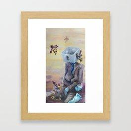 Time & Box Framed Art Print