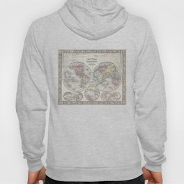 Vintage Map of The World (1864) 3 Hoody