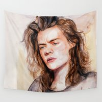 coconutwishes Wall Tapestries featuring Harry watercolors III by Coconut Wishes