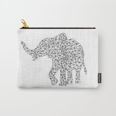 Triangles Elephant Silhouette on white Background on #Society6 Carry-All Pouch