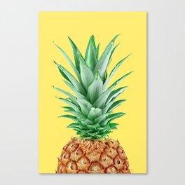 Yellow Pineapple Canvas Print