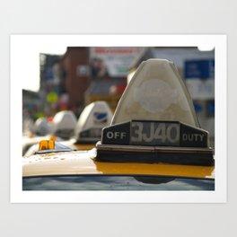 Brooklyn: Taxi Cab Art Print